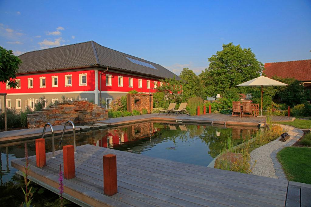 FREIRAUM Swimming Pond mit Wasserpflanzenbereiche