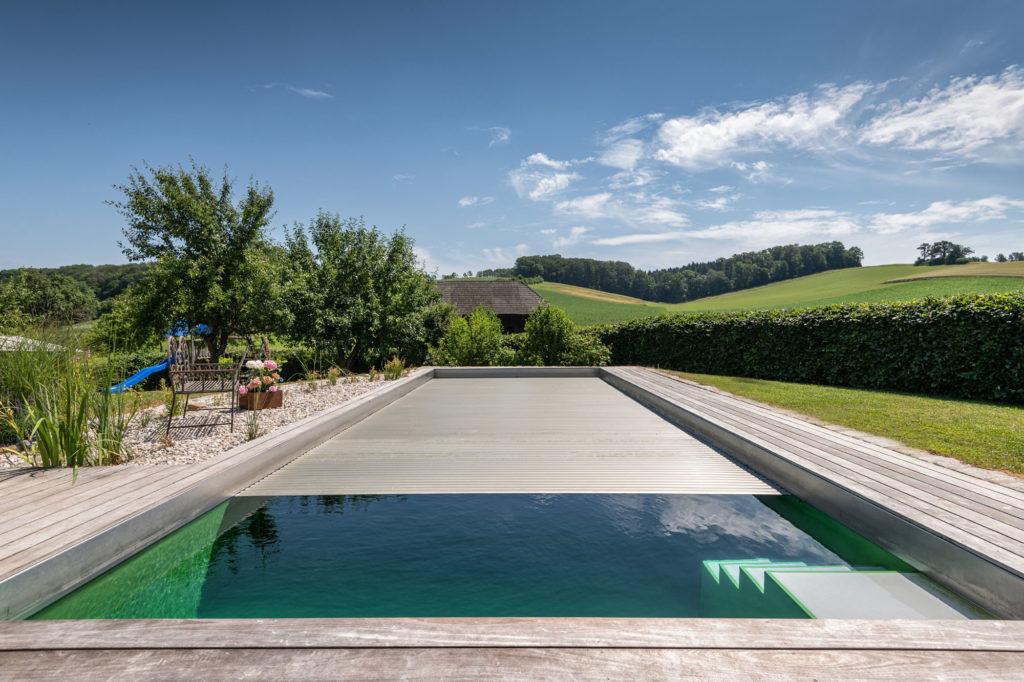 FREIRAUM Pool mit Unterflur Rollabdeckung