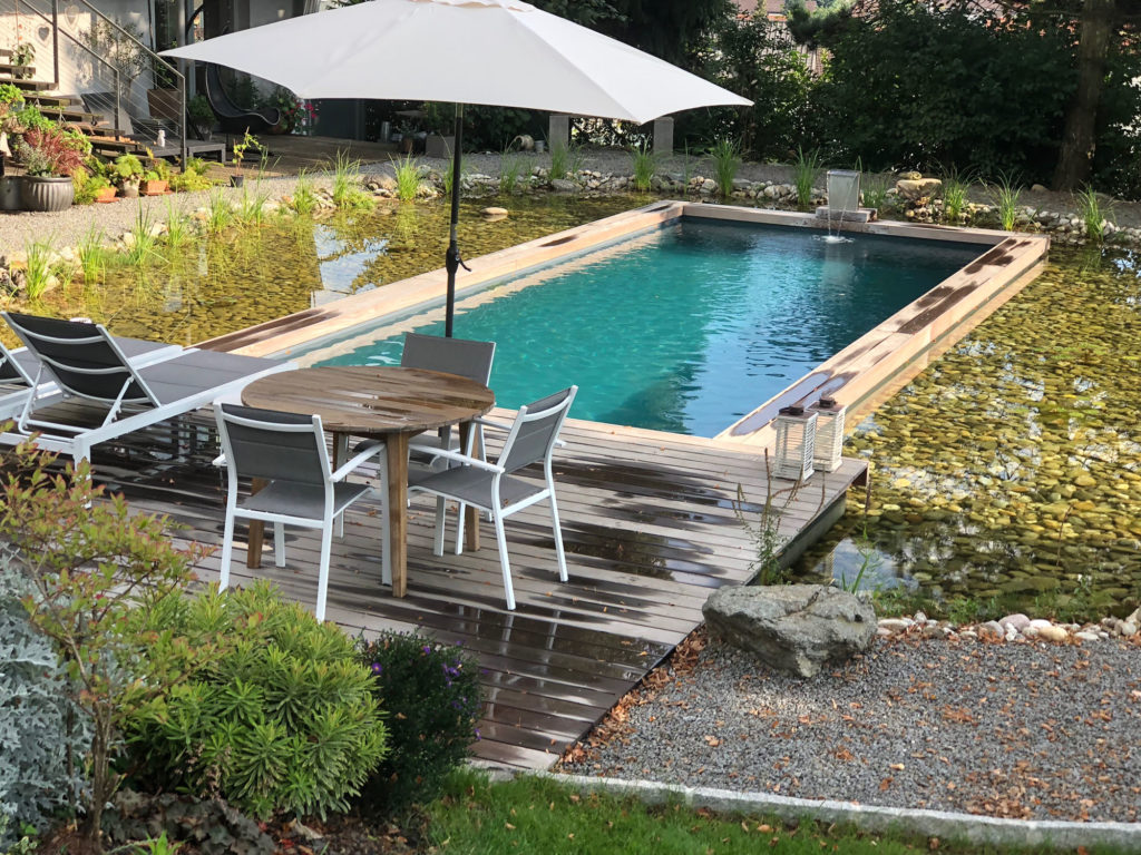 FREIRAUM Living Pool mit IPE Holzdeck