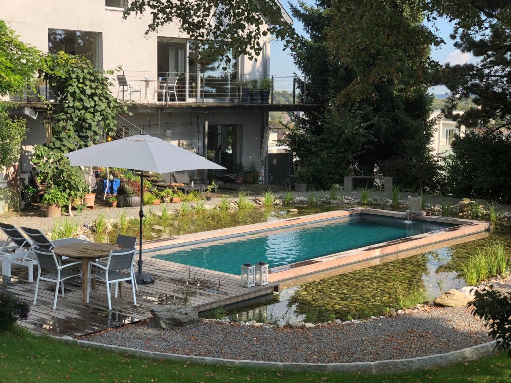 FREIRAUM Garten mit Living Pool