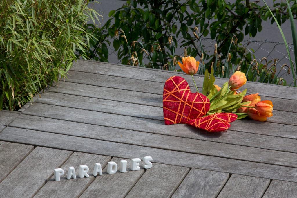 FREIRAUM Holzdeck Paradies Tulpen