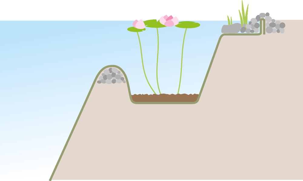 Schwimmteich Beratung mit Erdwallbauweise - FREIRAUM