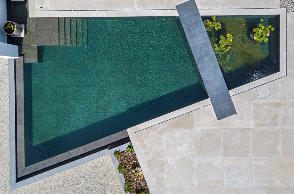 Living Pool mit separaten Pflanzbereich